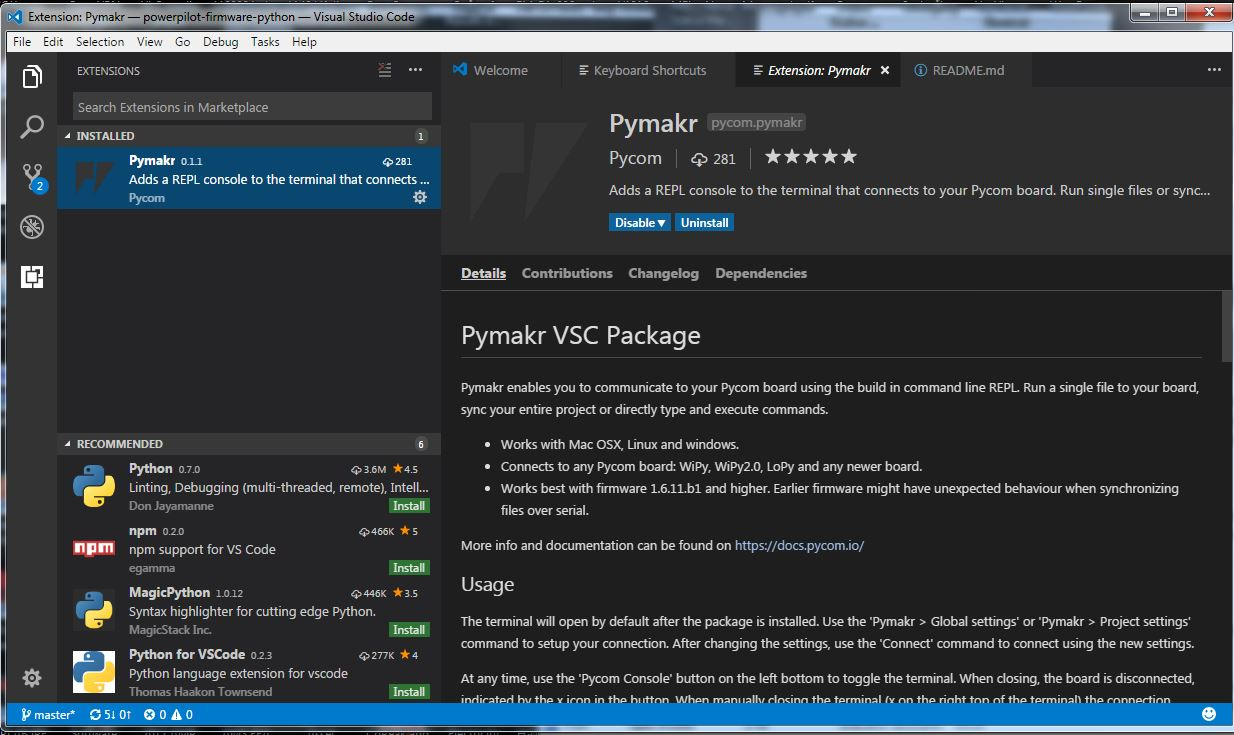 VS Code Pymakr Extension not installing | Pycom user forum
