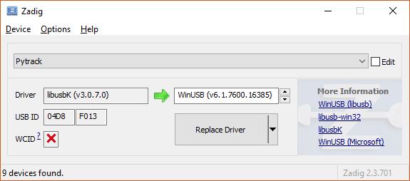 Pytrack shows up with alternative USB ID so dfu-util fails | Pycom