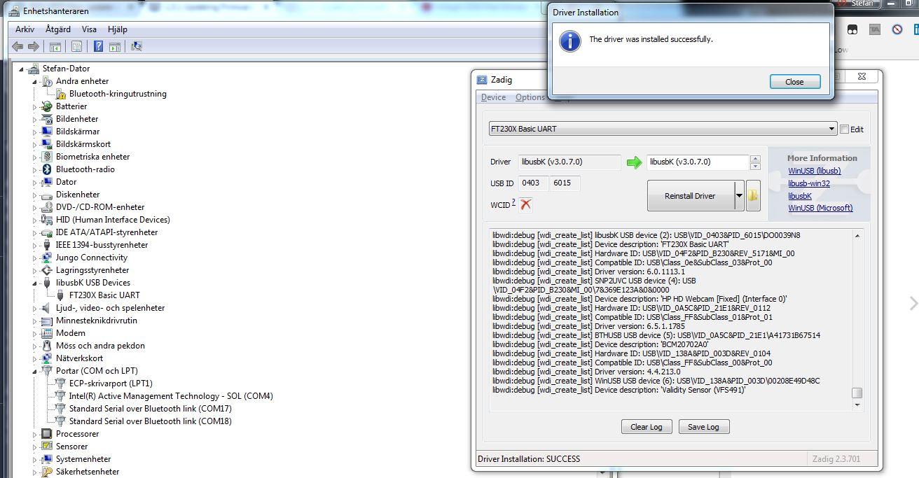USB VID 138A&PID 0018&REV 0078 WINDOWS 7 DRIVER