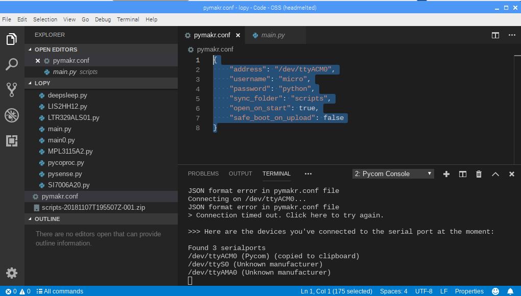 pymakr/vscode on raspberry pi | Pycom user forum